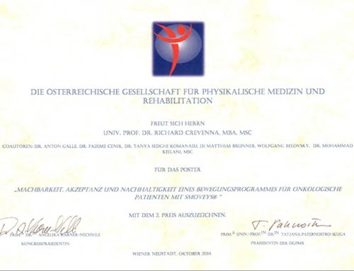 Machbarkeit, Akzeptanz und Nachhaltigkeit eines Bewegungsprogrammes für onkologische Patienten mit Smoveys®