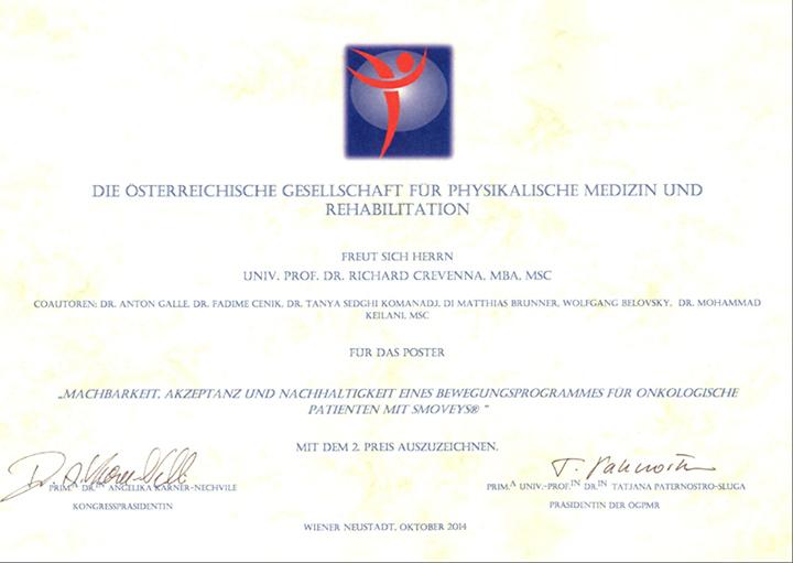 Zertifikat, Dr.Crevenna,smovey